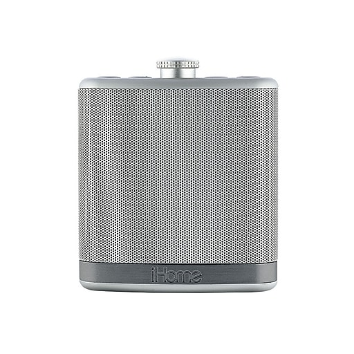 iHome iBT12SC SoundFlask Bluetooth Portable Stereo Speaker, Solid Silver