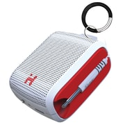 iHome iM54WRC Portable Rechargeable Mini Speaker, White/Red