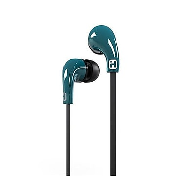 iHome iB26LC In-Ear Sound Isolating Headphones with Microphone, Blue