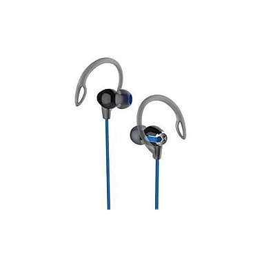 iHome iB21BLC Over-the-Ear 2-in-1 Sport Earhooks with Microphone, Black/Blue
