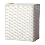 LaMont Carter Wicker Trash Can; White