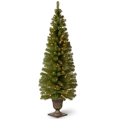National Tree Co. Montclair Spruce 6' Green Artificial Christmas Tree w/ 150 Clear Lights