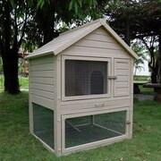 New Age Pet ecoFLEX Huntington Two-Level Rabbit Hutch