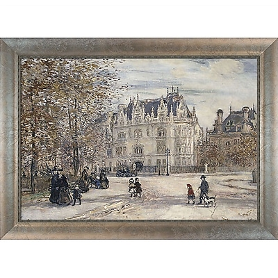 Tori Home The Fletcher Mansion, New York City by Jean Francois Raffaelli Framed Painting