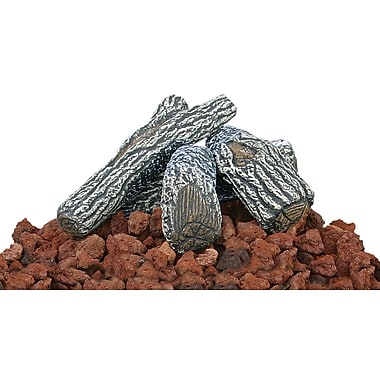 Uniflame Lava Rock and Log Kit For Outdoor Fire Pits