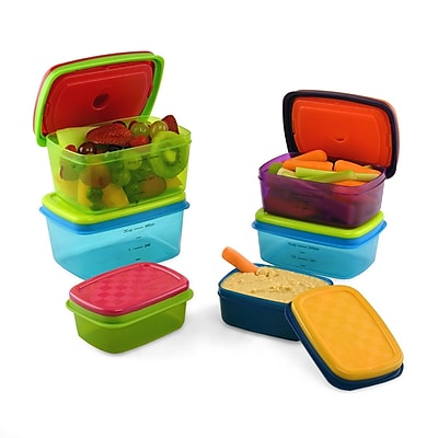 Fit & Fresh Soft Touch 6 Container Food Storage Set WYF078277455236