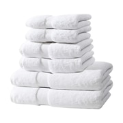 Textrade Zero Twist 6 Piece Towel Set; White