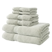 Textrade Zero Twist 6 Piece Towel Set; Gray
