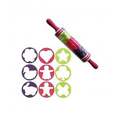 KoleImports Rolling Pin w/ Cookie Cutters