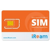 iRoam International Travel SIM, 3-in-1 SIM Cards for 2G/3G/4G/LTE