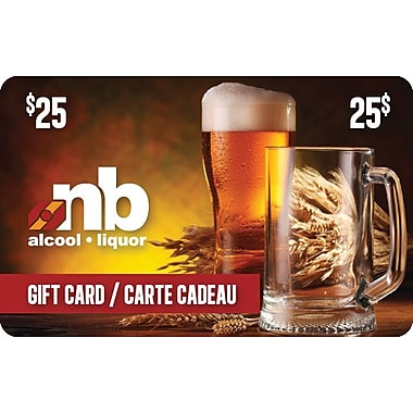 New Brunswick Liquor $25 Gift Card