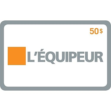 L'Equipeur – Carte-cadeau de 50 $