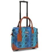Cabrelli & Co. - Mallette sur roulettes 715026 Bali Reptile pour portatif de 15,6 po, multi-bleu