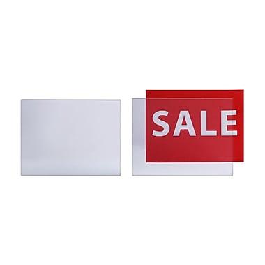 Futech – Porte-affiche en acrylique, 11 larg. x 8 1/2 haut. (po), incolore, paq./10