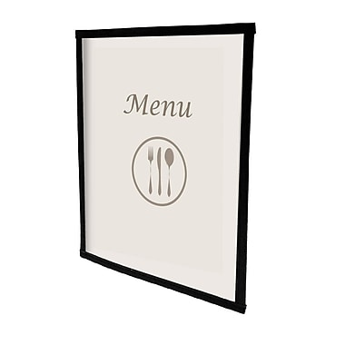 Futech 2-View Menu Holder BLK 8-1/2
