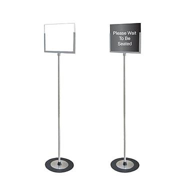 Futech - Porte-enseigne de plancher format lettre, 11 larg. x 8 1/2 haut., acier inoxydable