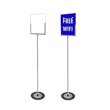 Futech Letter Size Floor Sign Holder 8-1/2