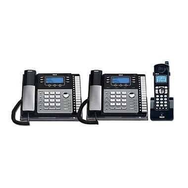 RCA - Téléphone de table à 4 lignes TC25424RE1 3PC avec identification de l'appelant