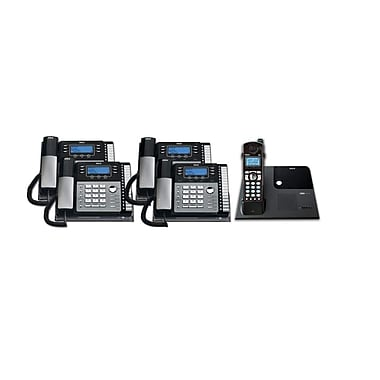 RCA TC25424RE1 5PC 4-Line Desk Phone with Caller ID Kit