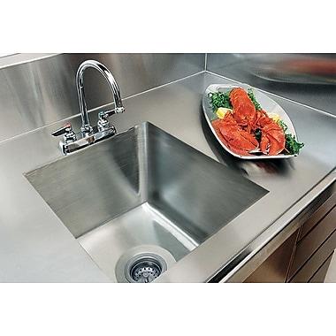 A-Line by Advance Tabco Integral Single Bowl Kitchen Sink