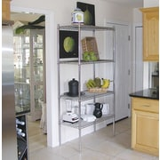 A-Line by Advance Tabco Wire Storage 4 Shelf Shelving Unit Kit; 74'' H x 60'' W x 14'' D