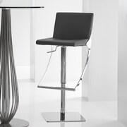 Bellini Modern Living Sonic Adjustable Height Swivel Bar Stool; Brown