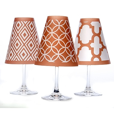 di Potter Barcelona 4.5'' Paper Empire Candelabra Shade (Set of 6); Fiesta Orange