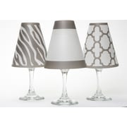 di Potter Manhattan 4.5'' Paper Empire Candelabra Shade (Set of 6); Grey