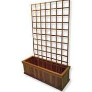 Diamond Teak Wood Lattice Panel Trellis; 24'' H x 72'' W