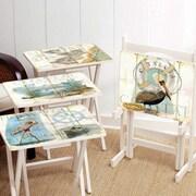 Cape Craftsmen Shore Birds TV Tray w/ Stand (Set of 4)