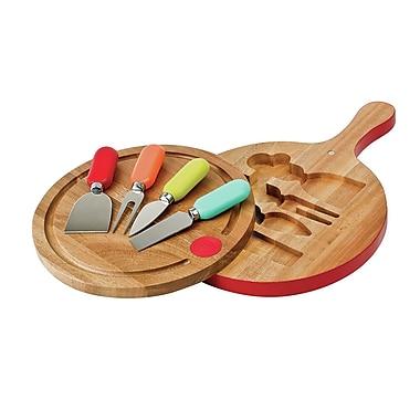 Fiesta 6 Piece Cheese Tool & Swivel Board Set