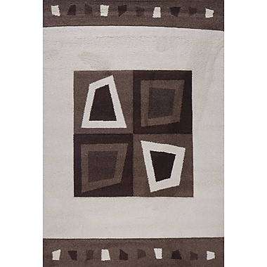 Luxury Home Milano Diamonds and Boxes Area Rug; 8' x 11'