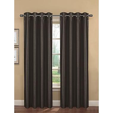 Bella Luna Bliss Solid Room darkening Thermal Grommet Curtain Panels (Set of 2); Charcoal