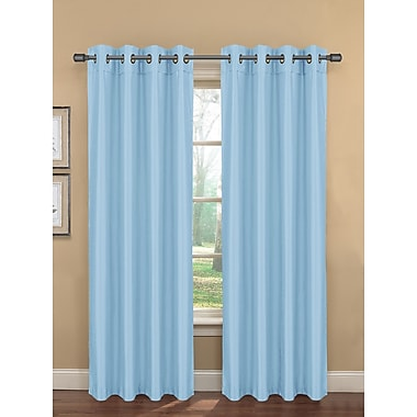 Bella Luna Bliss Solid Room darkening Thermal Grommet Curtain Panels (Set of 2); Dusk Blue
