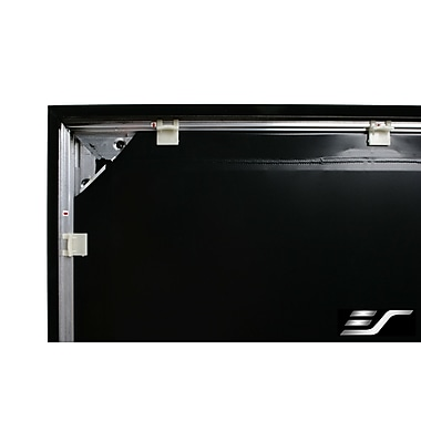 Elite Screens Sable Frame Black 100'' diagonal Fixed Frame Projection Screen; 180'' diagonal