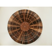Frantic Fern Hand Woven Round Bowl; Small