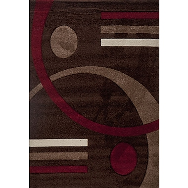 Luxury Home Milano Postmodernist Venn Diagram Area Rug; 8' x 11'