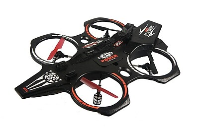 Odyssey Toys Nebula Cruiser NX RC Quadricopter Aircraft, Black