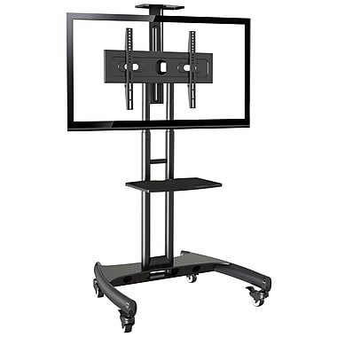 Rocelco Adjustable Height Mobile TV Stand For 32 70 Flat