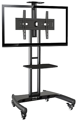 Rocelco Adjustable Height Mobile TV Stand for 32-70