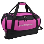 "Pacific Gear Gala 20"" Carry-On Rolling Duffel Bag, Pink"