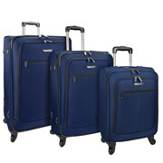 Traveler's Choice Merced Lightweight 3-Piece Spinner Luggage Set, Navy
