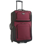 "Travel Select Amsterdam 25"" Expandable Rolling Upright in Burgundy"