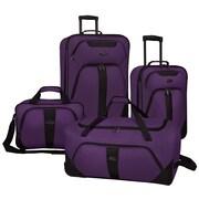 U.S. Traveler Oakton 4-Piece Luggage Set, Purple