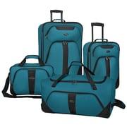 U.S. Traveler Oakton 4-Piece Luggage Set, Teal