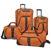 U.S. Traveler Oakton 4-Piece Luggage Set, Orange