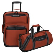 U.S. Traveler Hillstar 2-Piece Casual Luggage Set, Salmon
