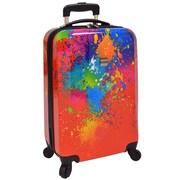 """U.S. Traveler 20"""" Fashion Paint Splatter Hardsided Spinner Luggage"""