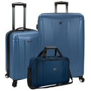 U.S Traveler Hytop 3-Piece Spinner Luggage Set, Blue