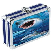 Vaultz® - Locking 3D Lenticular Pencil Box, Shark (VZ00292)